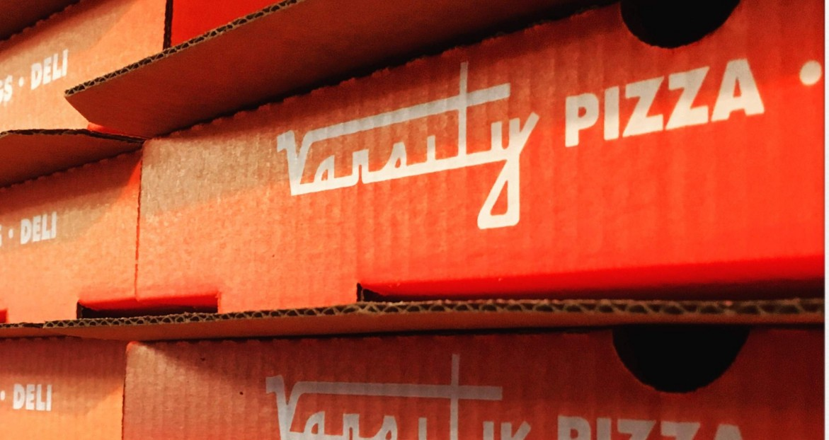 Our Signature Pizza Boxes Prepared for Take Out