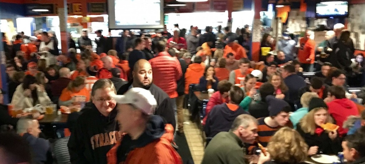 'Cuse Fans Getting Ready for Game Time at the Dome
